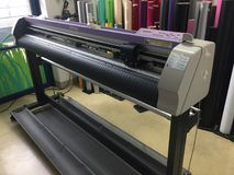 Mimaki flatbed cutting plotter royalty free stock photography