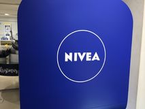 Nivea merchandising. Berlin, Germany - November 30, 2017: Nivea merchandising. Nivea is a global skin- and bodycare brand that is owned by the German company Stock Photo
