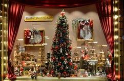 Berlin, Germany - November 03, 2014: Showcase of the new year souvenirs royalty free stock photo