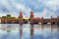 Oberbaum bridge Berlin Germany Royalty Free Stock Photography