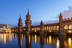 Oberbaum bridge - Berlin - Germany Stock Images