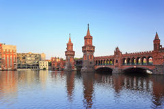 Oberbaum bridge, Berlin, Germany Royalty Free Stock Photo