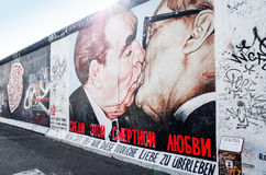 BERLIN, GERMANY- October 15, 2014: Berlin Wall was a barrier con Royalty Free Stock Photo
