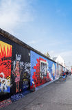 BERLIN, GERMANY- October 15, 2014: Berlin Wall was a barrier con Royalty Free Stock Photos