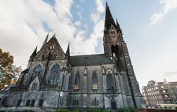 BERLIN, GERMANY - OCTOBER 28, 2012: Church in Berlin. Wide Angle View. Royalty Free Stock Photo