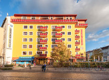 BERLIN, GERMANY - OCTOBER 28, 2012: Colorful Building Exterior in Berlin, Germany. Colorful Building Exterior in Berlin, Germany stock photography
