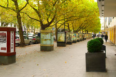 BERLIN, GERMANY - OCTOBER 21 2015: Famous shopping street Kurfurstendamm (Ku'Damm) in Berlin. Royalty Free Stock Images