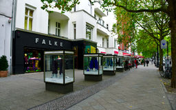 BERLIN, GERMANY - OCTOBER 21 2015: Famous shopping street Kurfurstendamm (Ku'Damm) in Berlin. Stock Photos