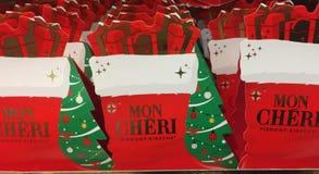 Ferrero Mon Chéri Christmas chocolates royalty free stock images
