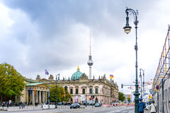 BERLIN, GERMANY- October 7: Typical Street view October 7, 2016 Royalty Free Stock Photography