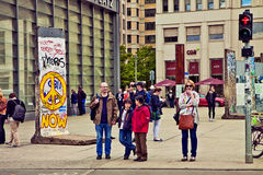 Berlin Germany - Potsdamer Platz, point de rencontre touristique Image stock