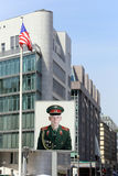 Berlin, Germany. The russian soldier portrait in memory of Berlin Wall Stock Photos