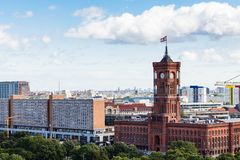 Berlin city with Rotes Rathaus from Berliner Dom Royalty Free Stock Image