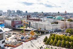 Construction site at Museum Island in Berlin Stock Image