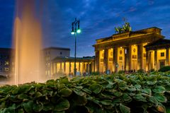 BERLIN, GERMANY - SEPTEMBER 23, 2015: Famous Brandenburger Tor stock photos