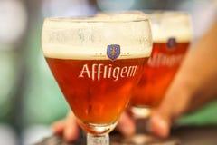 Affligem abbey Belgian red beer royalty free stock photos