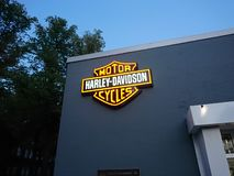 Harley - Davidson motorcycle dealership royalty free stock photos