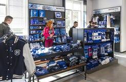 Hertha BSC Fanshop in Berlin Stock Photography