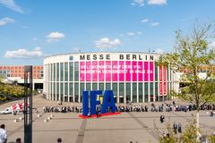 Main, south entrance to the IFA -the largest annual consumer electronics exhibition in Europe. royalty free stock photography