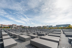 BERLIN, GERMANY - SEPTEMBER 26, 2012: Memorial to the Murdered Jews of Europe, Berlin, Germany. Royalty Free Stock Photo