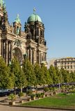 The Berliner Dom on Museum Island. Berlin, Germany- September 18, 2018: the park Lustgarten , the Berliner Dom on Museum Island, one of Museum Island`s main royalty free stock photo