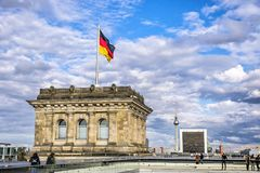 Roof of Reichstag Bundestag building in Berlin, Germany Royalty Free Stock Photo