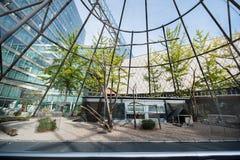 BERLIN, GERMANY - SEPTEMBER 25, 2012: Public Birds Cage in Berlin Downtown, Germany. Wide Net. Stock Image