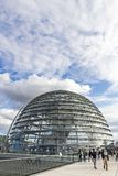 Glass dome of Reichstag Bundestag building in Berlin, Germany Stock Photography