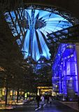 Berlin, Germany.  The Sony Center at night Royalty Free Stock Photo