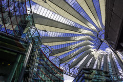BERLIN, GERMANY The Sony Center on Potsdamer Platz. Sony Center located at the Potsdamer Platz is a Sony-sponsored building complex, opened in 2000 year Stock Images