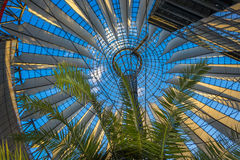 BERLIN, GERMANY The Sony Center on Potsdamer Platz. Sony Center located at the Potsdamer Platz is a Sony-sponsored building complex, opened in 2000 year Stock Image