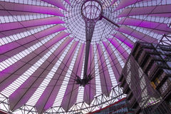 BERLIN, GERMANY The Sony Center on Potsdamer Platz. Sony Center located at the Potsdamer Platz is a Sony-sponsored building complex, opened in 2000 year Royalty Free Stock Image