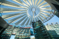 BERLIN, GERMANY - The Sony Center on Potsdamer Platz. BERLIN, GERMANY - NOV 17, 2014: The Sony Center on Potsdamer Platz. Sony Center located at the Potsdamer Stock Image