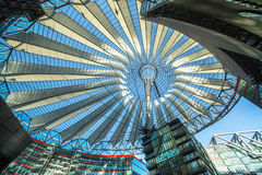 BERLIN, GERMANY - The Sony Center on Potsdamer Platz. BERLIN, GERMANY - NOV 17, 2014: The Sony Center on Potsdamer Platz. Sony Center located at the Potsdamer Stock Images
