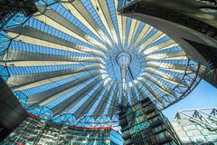 BERLIN, GERMANY -  The Sony Center on Potsdamer Platz. BERLIN, GERMANY - NOV 17, 2014: The Sony Center on Potsdamer Platz. Sony Center located at the Potsdamer Stock Photos