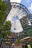 Berlin Germany - Sony Center, sponsored building complex at Potsdamer Platz. Berlin Germany - Sony Center at Potsdamer Platz, gigantic mall with shops, cinemas Royalty Free Stock Photos