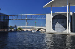 Berlin, Germany. Modern architecture, river Spree Royalty Free Stock Photos