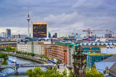 Berlin, Germany Spree River Skyline Stock Photos
