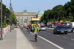 Berlin, Germany. On the street near Brandenburer Gate Royalty Free Stock Photos