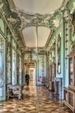 Berlin Germany 22 th May 2018 Charlottenburg Palace View of a beautiful room in palace Charlottenburg, with its green / gold ceili Stock Photography