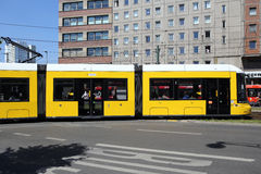 Berlin, Germany. Tramway on the street Stock Images