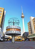 World clock - Berlin - Germany Stock Photo