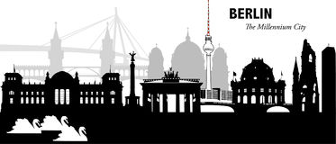 Berlin, Germany. Vector illustration of the skyline cityscape of Berlin, Germany Royalty Free Stock Images