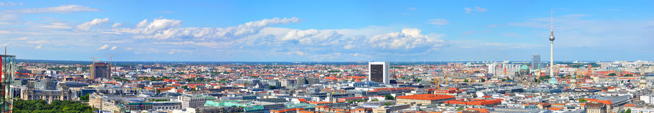Berlin Germany. A view of Berlin with the Fernsehturm tower and Berlin Cathedral, Germany Royalty Free Stock Photography