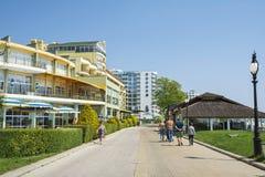 Berlin Golden Beach et hôtel de Glarus, plage d'or de sables Photo libre de droits