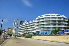 Berlin Golden Beach Hotel, Golden Sands Beach, Bulgaria Stock Photos