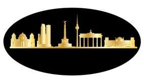 Berlin golden city skyline Stock Photos