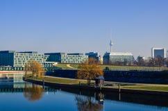 Berlin Government modern skylinie buildings Royalty Free Stock Photo
