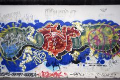berlin grafitti Royaltyfri Bild
