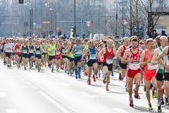 Berlin Half Marathon anual berlim germany fotos de stock